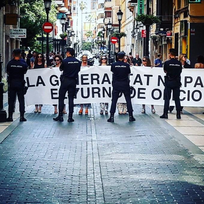 Protesta en Castellón